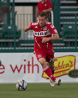 Chicago Fire midfielder Corben Bone (19) controls the ball. In a Third Round U.S. Open Cup match, the Chicago Fire defeated the Rochester Rhinos, 1-0, at Sahlens Stadium on June 28, 2011.