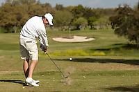 SAN ANTONIO, TX - MARCH 24, 2015: The University of Texas at San Antonio Roadrunners host the UTSA Lone Star Invitational Golf Tournament at the Briggs Ranch Golf Club. (Photo by Jeff Huehn)