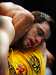 March 1, 2008; Columbus, OH; UFC 82: Pride of a Champion - Jon Fitch (black trunks) defeats Chris Wilson (yellow trunks) via unanimous decision at the Nationwide Arena in Columbus, OH.