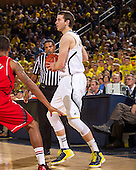 The University of Michigan men's basketball team beat Nebraska, 62-47, to tie a program best 16-0 start at Crisler Center in Ann Arbor, Mich., on January 9, 2013.