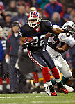 17 December 2006: Buffalo Bills cornerback Nate Clements (22) runs back an interception against the Miami Dolphins at Ralph Wilson Stadium in Orchard Park, New York. The Bills defeated the Dolphins 21-0.. .Mandatory Photo Credit: Ed Wolfstein Photo<br />