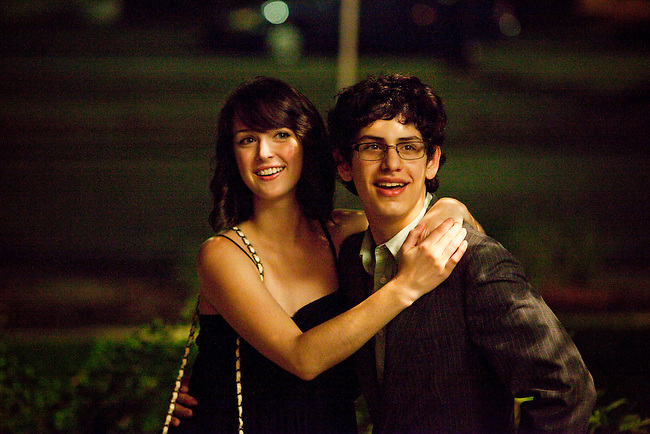 "Nicole Weaver and Matt Bennett in Columbia Pictures' comedy ""The Virginity Hit."""