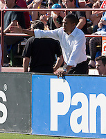 Santa Clara, California - Sunday May 13th, 2012: Head Coach, Robin Fraser of Chivas USA instructing his players during a Major League Soccer match against San Jose Earthquakes at Buck Shaw Stadium