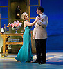Lincoln Center Theater production of Rodgers &amp; Hammerstein's<br /> <br /> South Pacific <br /> <br /> Directed by Bartlett Sher <br /> <br /> Musical Staging by Christopher Gattelli<br /> Sets by Michael Yeargan<br /> Lighting by Donald Holder<br /> Costumes by Catherine Zuber<br /> Sound by Scott Lehrer<br /> Music Direction by Ted Sperling<br /> Original Orchestrations by Robert Russell Bennett<br /> <br /> at The Barbican Theatre, London, Great Britain <br /> <br /> 22nd August 2011 <br /> <br /> <br /> Paulo Szot (as Emile de Becque)<br /> Samantha Womack (as Neillie Forbush)<br /> <br /> Photograph by Elliott Franks