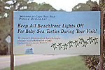 Keep Lights Off Turtle Sign
