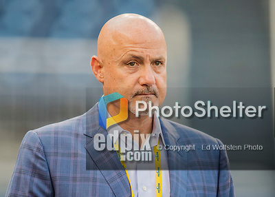 13 October 2016: Washington Nationals General Manager Mike Rizzo watches batting practice prior to the NLDS Game 5 against the Los Angeles Dodgers at Nationals Park in Washington, DC. The Dodgers edged out the Nationals 4-3, to take Game 5 of the Series, 3 games to 2, and move on to the National League Championship Series against the Chicago Cubs. Mandatory Credit: Ed Wolfstein Photo *** RAW (NEF) Image File Available ***