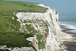 The white chalk cliffs at South Foreland (the so-called 'White Cliffs of Dover'), near Dover, Kent, UK