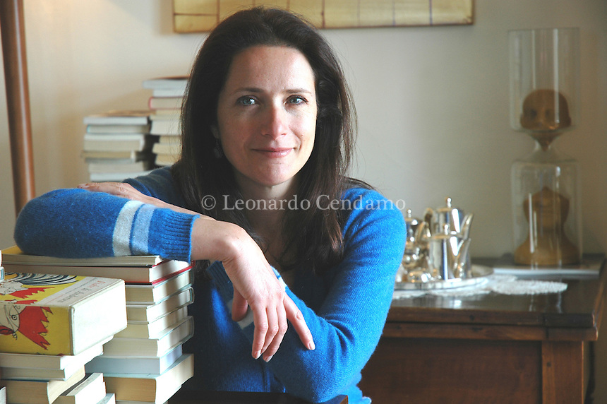 Milan, Italy, 2005. The Italian writer Camilla Baresani.