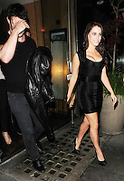 Jessica Lowndes and Thom Evans At Roka Restaurant