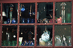 Glass bottles and nick-knacks in shop window Commonwealth of Virginia, Fine Art Photography by Ron Bennett, Fine Art, Fine Art photography, Art Photography, Copyright RonBennettPhotography.com ©
