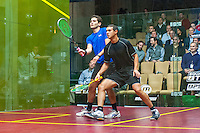 Karim Abdel Gawad EGY) vs. Karim Ali Fathi (EGY) in the first round of the 2014 METROsquash Windy City Open held at the University Club of Chicago in Chicago, IL on February 27, 2014