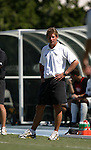 11 September 2005: Wake Forest head coach Jay Vidovich. The Wake Forest Demon Deacons defeated the Rutgers Scarlet Knights 5-1 in an NCAA Divison I men's soccer game at Fetzer Field in Chapel Hill, NC.