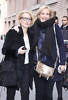 NEW YORK, NY - MARCH 13: Gillian Anderson and Jennifer Nadel at The View in New York City on March 13 , 2017. Credit: RW/MediaPunch