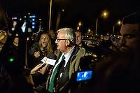 Roma 21 Novembre 2014<br /> Manifestazione contro prostituzione e degrado all' EUR, organizzata dal comitato di quartiere &quot;Ripartiamo dall'Eur&quot; e dall'associazione commercianti della zona. La manifestazione &egrave; stata indetta per chiedere un intervento dalle istituzioni sulla prostituzione e il degrado nel quartiere. Mario Borghezio eurodeputato della Lega Nord, contestato da una partecipante al corteo<br /> Rome November 21, 2014<br /> Demonstration against prostitution and degradation in the EUR district, organized by the neighborhood committee, and by the traders in the area The demonstration was called to request assistance from the institutions against prostitution and degradation in the neighborhood. Northern League MEP Mario Borghezio, contested by a participant in the protest.