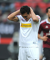 FUSSBALL   1. BUNDESLIGA  SAISON 2011/2012   24. Spieltag 1. FC Nuernberg - Borussia Moenchengladbach      04.03.2012 Juan Arango (Borussia Moenchengladbach)