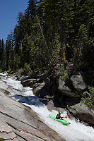 """Kayaker on Silver Creek 7"" - This kayaker was photographed on Silver Creek - South Fork, near Icehouse Reservoir, CA."