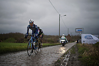 Dimitri Claeys (BEL/Wanty-Groupe Gobert) over the cobbles<br /> <br /> GP Samyn 2016