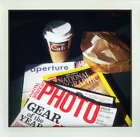 "photographer's breakfast..From the series ""Fake Polaroids"", iPhone photos taken in New York...."