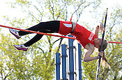 """Sussex Hamilton's Shannon Burke clolely clears 10'6"""" during the pole vault competition at the Greater Metro Conference meet at Quad Park in Milwaukee on Tuesday, May 17, 2011. Ernie Mastroianni photo."""