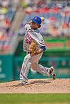 26 July 2013: New York Mets pitcher Jenrry Mejia on the mound against the Washington Nationals at Nationals Park in Washington, DC. The Mets shut out the Nationals 11-0 in the first game of their day/night doubleheader. Mandatory Credit: Ed Wolfstein Photo *** RAW (NEF) Image File Available ***