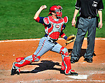 5 March 2010: Washington Nationals' catcher Wil Nieves in action during a Spring Training game against the Atlanta Braves at Champion Stadium in the ESPN Wide World of Sports Complex in Orlando, Florida. The Braves defeated the Nationals 11-8 in Grapefruit League action. Mandatory Credit: Ed Wolfstein Photo
