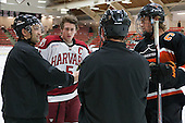 Jean-Yves Roy, Dan Ford (Harvard - 5), Marty Hughes, Jack Berger (Princeton - 9) - The Harvard University Crimson defeated the Princeton University Tigers 3-2 on Friday, January 31, 2014, at the Bright-Landry Hockey Center in Cambridge, Massachusetts.