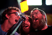 """Those boys sure do harmonize,"" Megafaun plays Hometapes' Friend Island day party at the Pour House during the Hopscotch Music Festival in Raleigh, N.C., Friday, Sept. 10, 2010."