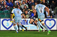 Ben Williams goes on the attack. Aviva Premiership match, between Bath Rugby and Northampton Saints on September 14, 2012 at the Recreation Ground in Bath, England. Photo by: Patrick Khachfe / Onside Images