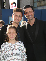 """HOLLYWOOD, CA - May 18: Gilles Marini, Juliana Marini,Georges Marini, At Premiere Of Disney's """"Pirates Of The Caribbean: Dead Men Tell No Tales"""" At Dolby Theatre In California on May 18, 2017. Credit: FS/MediaPunch"""