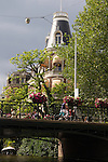 Europe, Netherlands, Amsterdam. Amsterdam Bridge Corner.