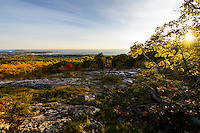 Fall color views from the lookout at Marquette Mountain in Marquette, Michigan.