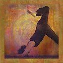 Woman in a variation of the yoga pose Dolphin. Photo illustration.