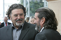 07/09/2010.MCD's Denis Desmond & Johnny Ronan at the opening of the Convention Centre in Spencers Dock,  Dublin..Photo: Gareth Chaney Collins
