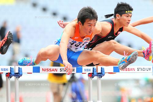 Kosuke Kubota, <br /> OCTOBER 30, 2016 - Athletics : <br /> The 47th Junior Olympic Athletics Tournament, <br /> Men's 110m Junior Hurdles A Semi-final <br /> at Nissan Stadium in Kanagawa, Japan. <br /> (Photo by AFLO SPORT)