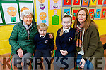 At Caherleaheen NS Grandparents Day on Friday were l-r Grandmother Eileen Moriarty, Harry Diggin, Fay Diggin and mom Eileen Diggin