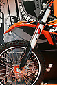 "Mar 26, 2010 - Tokyo, Japan - KTM introduced two electrically driven sports motorcycles under the title ""Freeride"" for offroad and supermoto riders during the 37th Tokyo Motorcycle Show at Tokyo Big Sight on March 26, 2010. Those 'zero emission motorcycle' will go on sale on 2011, according to the Austrian company. (Photo Laurent Benchana/Nippon News)"