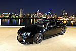 2003 MY03 Subaru Liberty GT.Obsidian Black Pearl .Docklands, Port Melbourne, Victoria, Australia.16th of April 2006.(C) Joel Strickland Photographics.Use information: This image is intended for Editorial use only (e.g. news or commentary, print or electronic). Any commercial or promotional use requires additional clearance.