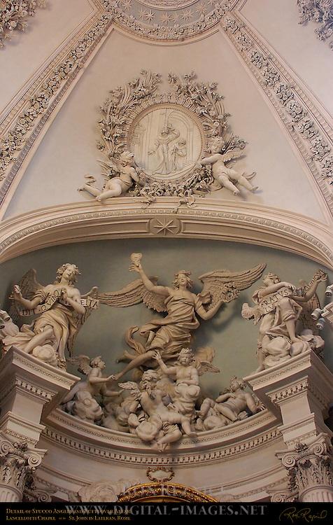 Lancellotti Chapel Francesco da Volterra 1590 Stucco Angels and Putti Giovanni Antonio de Rossi 1680 Stuccoed Dome Filippo Carcani 1685 St John in Lateran Rome