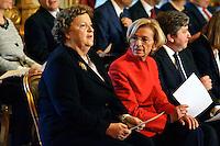 Roma, 28 Aprile  2013.Il governo Letta giura al Quirinale. Anna Maria Cancellieri, Ministro della Giustizia, Emma Bonino Ministro degli Esteri..