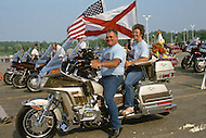 Madison, Wisconsin, from July 30th to August 3rd 1989. The Wing Ding Honda Convention: No so young but proud to own a Gold Wing Honda (made in USA) the most powerful motorcycle ever build, 1500cc, water cooled engine, with a rear gear.<br /> The machine is also very safe to ride. 7000 Gold Wingers gathered and had their Elegance Contest, best decorated, best original, best of show, best couple, best club etc.Grand Parents bikers.