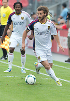29 June 2013: Real Salt Lake midfielder Kyle Beckerman #5 in action during an MLS game between Real Salt Lake and Toronto FC at BMO Field in Toronto, Ontario Canada.<br /> Real Salt Lake won 1-0.