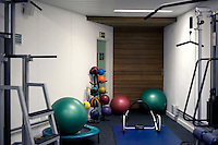 The players' gym at Wimbledon, The All England Lawn Tennis Club (AELTC), London...