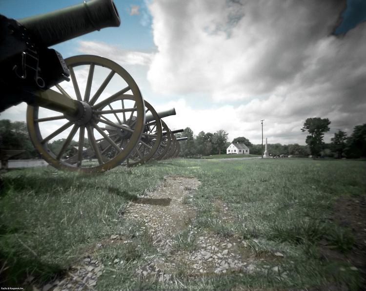 Dunker Church, Antietam National Battlefield, Shaprsburg, MD - Colorized