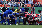 30 April 2005: Kansas City's Vince Pastorino prepares to put the ball into the scrum. The Kansas City Blues defeated the Philadelphia Whitemarsh RFC 41-14 at the Arrowhead Stadium in Kansas City, Missouri in a Rugby Super League regular season game. .