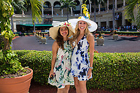HALLANDALE BEACH, FL - APRIL 01:  Scenes from Florida Derby Day at Gulfstream Park, Hallandale Beach, FL. (Photo by Arron Haggart/Eclipse Sportswire/Getty Images)