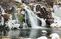 Winter time at Warner Falls, Palmer, MI.