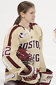 Haley Skarupa (BC - 22) - The Boston College Eagles defeated the visiting University of Maine Black Bears 5 to 1 on Sunday, October 6, 2013, in their Hockey East season opener at Kelley Rink in Conte Forum in Chestnut Hill, Massachusetts.