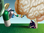 metaphorical illustration for mood disorders