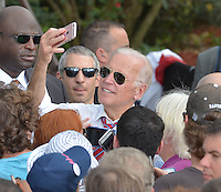 PALM BEACH GARDENS, FL - NOVEMBER 02: Vice President Joe Biden greet supporters during a public campaign rally for 'Get Out The Early Vote' for Democratic presidential nominee Hillary Clinton at Palm Beach State College-Amphitheater (Center of Campus) on November 2, 2016 in Palm Beach Gardens, Florida. Vice President Biden will urge Floridians to take advantage of early voting right away with six day left for election.  Credit: MPI10 / MediaPunch