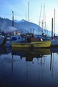 Yellow boat, Ketchikan, Alaksa.